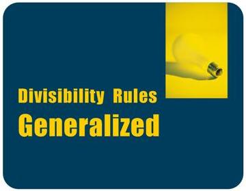 Generalization of Divisibility Rules for Primes